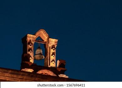 Night of the bell of the Bethlehem Church in Cajamarca Peru