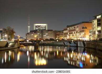 night berlin landscape