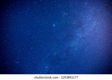 Night blue sky and star background.Starry Night Sky. with grain and select white balance