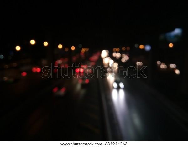 Night Blur Road, bokeh