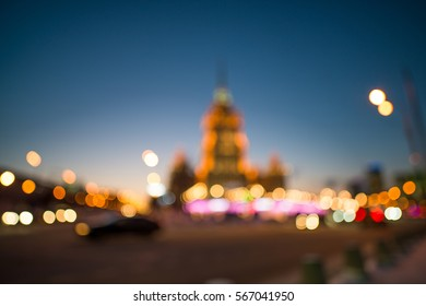 Night blurred lights in Moscow