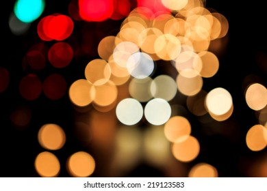 Night Bokeh from Light on the Road.