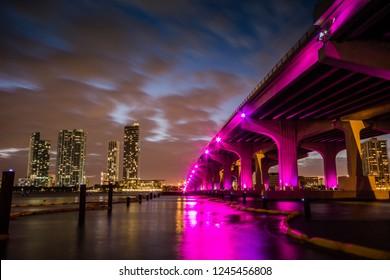 Night Bridge Landscape