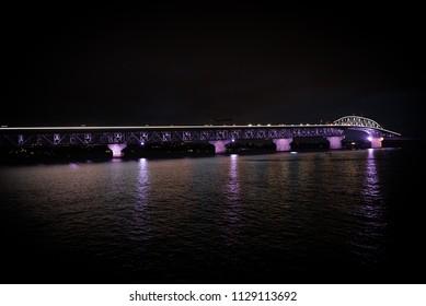 Night Bridge of water