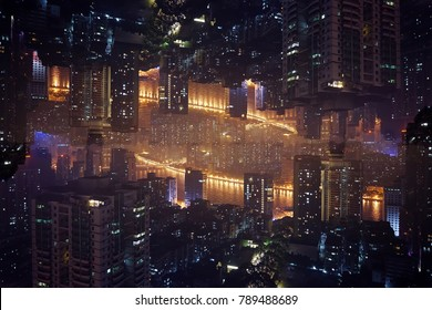 Night in the bright lights of Guangzhou