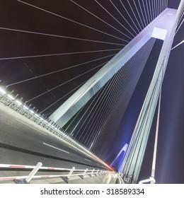 Night cable-stayed bridge