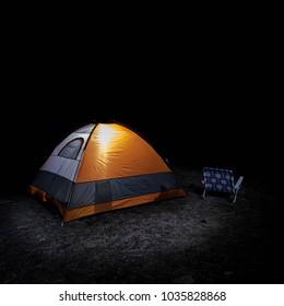 night camping long exposure