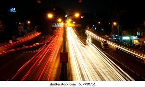 Night Car light trails