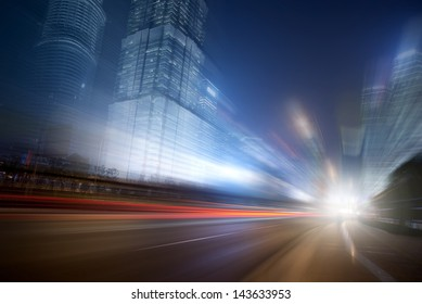 Night car speed blur background