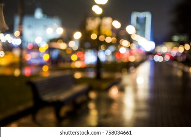 Night city Bokeh Abstract background.