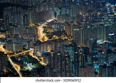 Night city close up texture