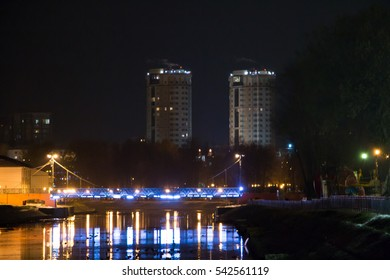 Night city.The City Of Ivanovo. Quay.