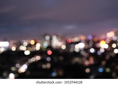Night city light of Jakarta
