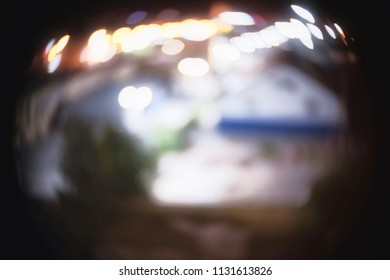 Night City Lights Abstract Image With Copyspace