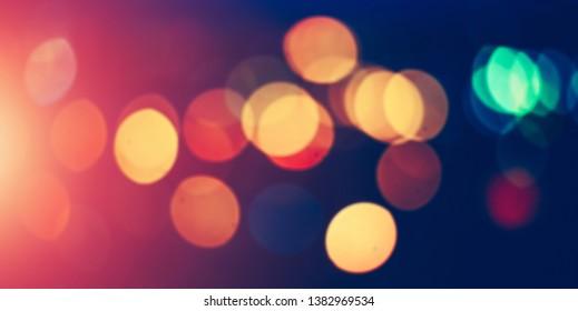 Night city lights. Modern outdoor blur bokeh background
