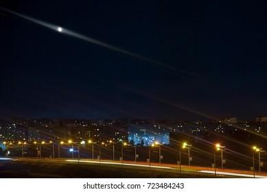 night city with original ligts