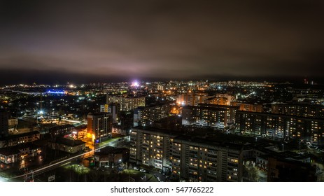 Night city of Petrozavodsk. Karelia