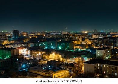 Night city in Russia