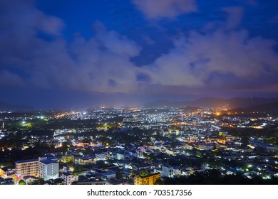 Night city view of Phuket