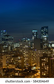 Night cityscape of downtown Toronto, Ontario, Canada.