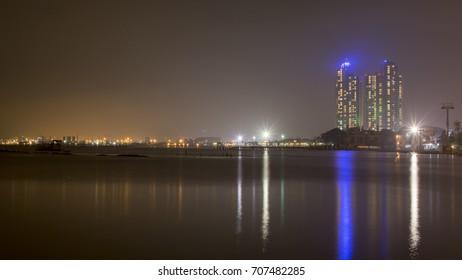 Night cityscape in Jakarta City