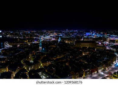 Night Cityscape over Stockholm