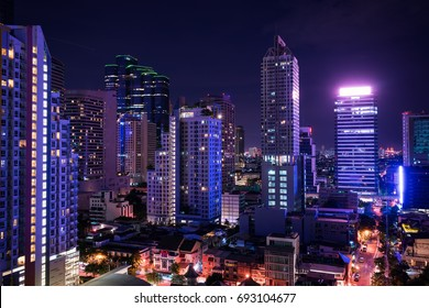 night cityscape view of metropolis - can use to display or montage on product