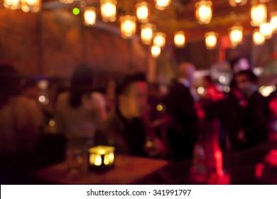 night club blurred