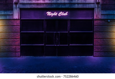 Night Club by night with lights