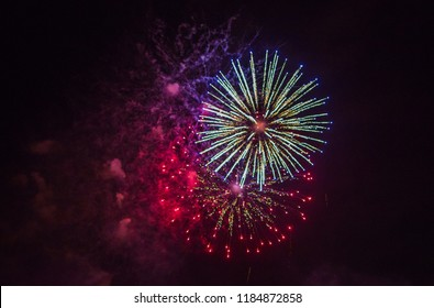 Night color firework