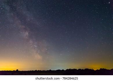 night dark sky with milky way