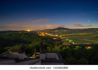 Night daybreak dusk dawn landscape aerial hills