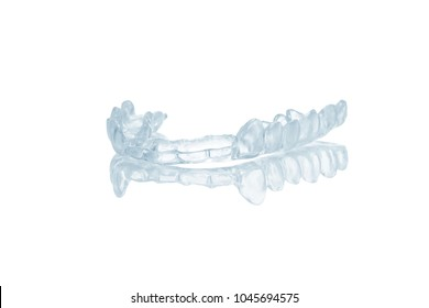 night dental mouth guard isolated on white