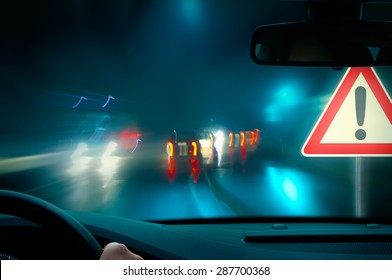 Night Driving - bad weather driving - night driving - caution