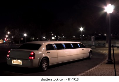 Night escort (limousine at night )