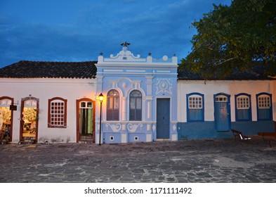 Night falls in Cidade de Goias Brazil
