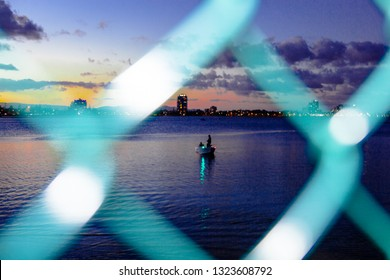 NIGHT FISHING,GOLD COAST, AUSTRALIA-12th JANUARY 2019:-Fishing on the broadwater is a favourite pastime amonst many locals