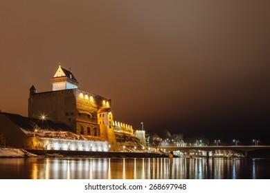 Night fortress German illuminates at night