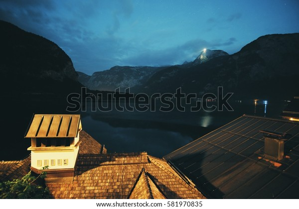 A night in Hallstatt, Austria.