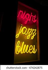 Night Jazz Blues Neon Light Sign