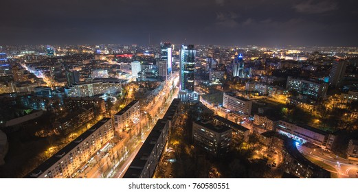 Night in Kiev, Ukraine. Landmark of night city