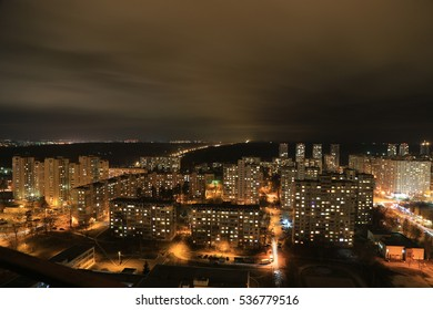 Night Kiev view