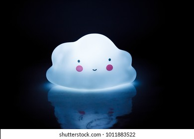 night lamp for a child in the form of the cloud