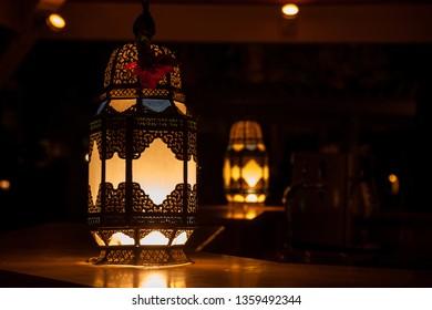 night lamp illuminating a Desk