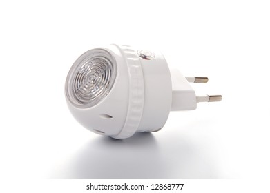 Night lamp with on off sensor. Isolated white background