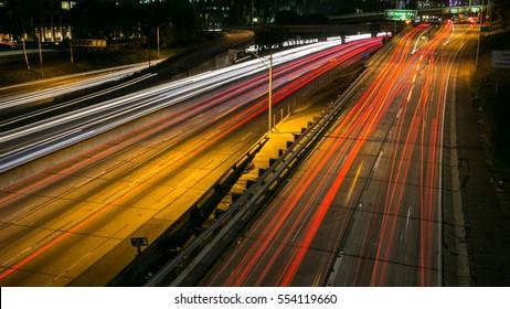 night life, city light, down town California