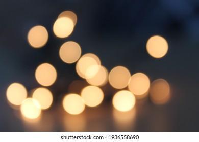 Night Life Lights Boke Urban Romantic