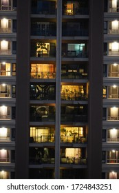 The night life of rich Taiwanese people in apartment. 03/14/2020 Taichung, Taiwan