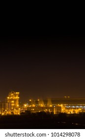 Night light of a cogeneration power plant, Ayutthaya province, Thailand