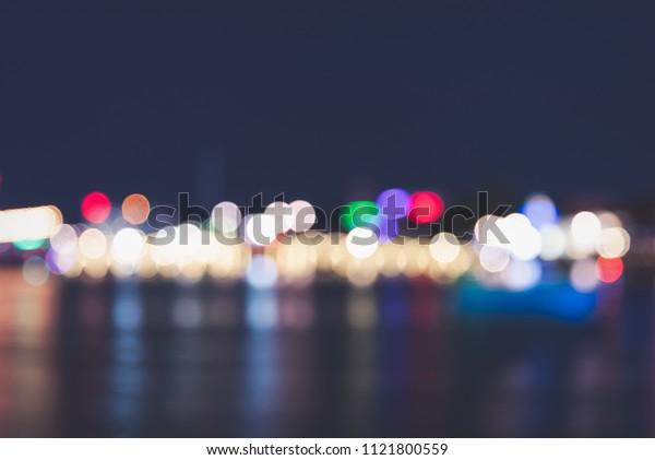 Night lights full of bokeh